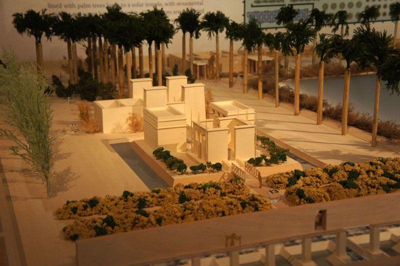 Maquette paleistuin farao Achnaton