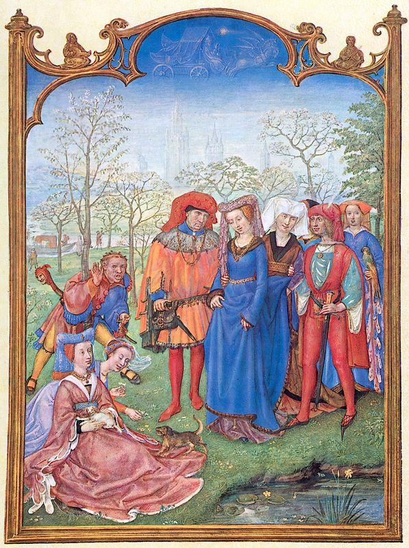 Middeleeuws chic riembeslag