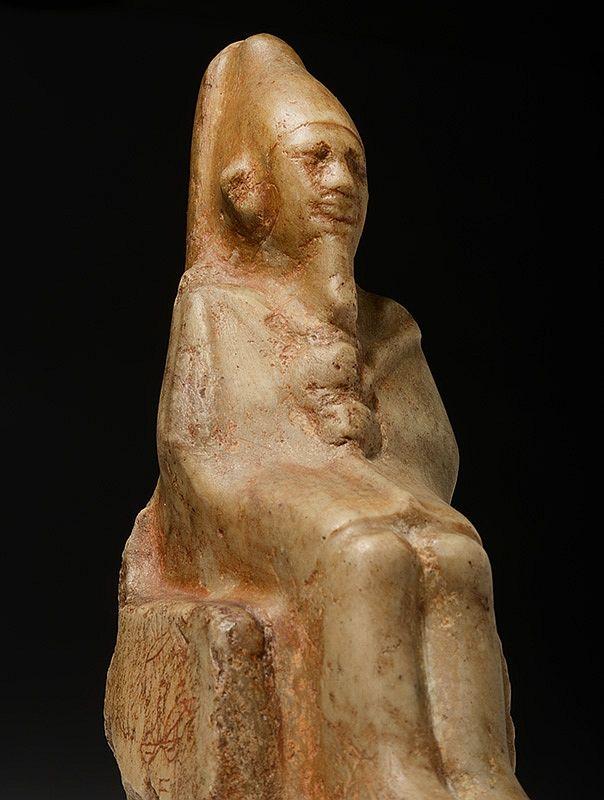 Twee Egyptische faraobeeldjes Farao Ninetjer