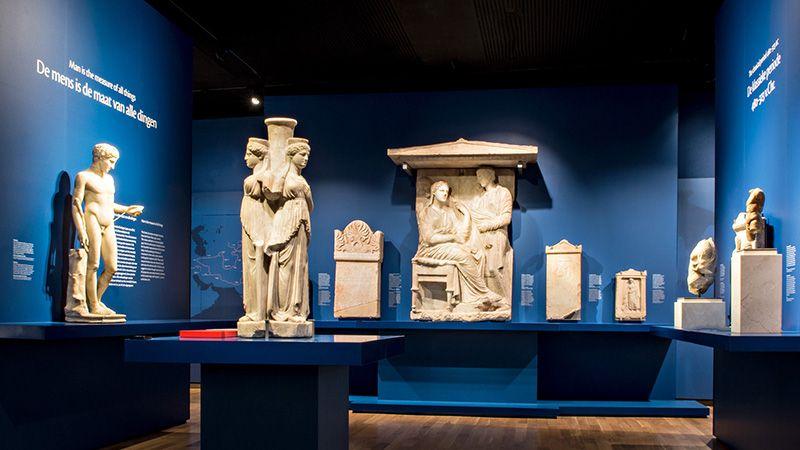 Griekse zalen klassieke wereld