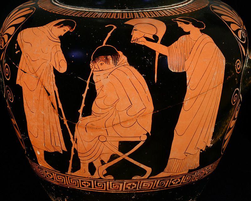 Wie zijn wij Museum Griekse vaas met Achilles