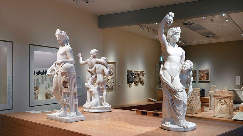 Een blik in de Romeinse beeldenzaal