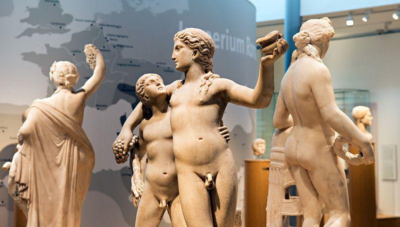 Een blik in de Romeinse zalen