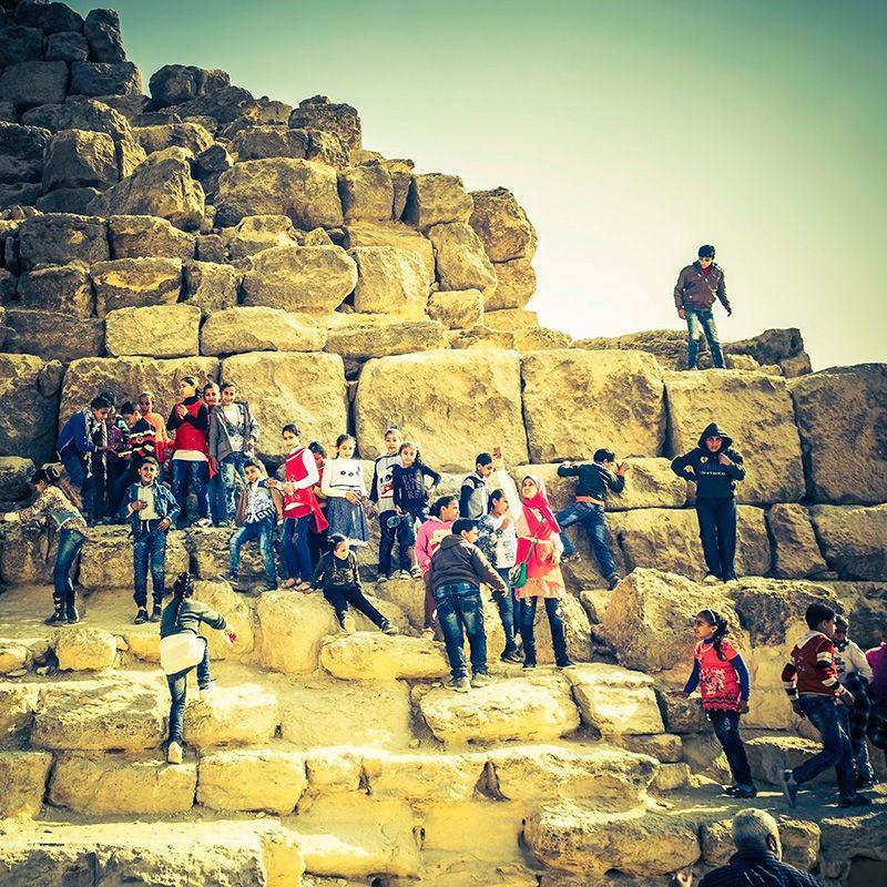 Monumentaal hergebruik piramide