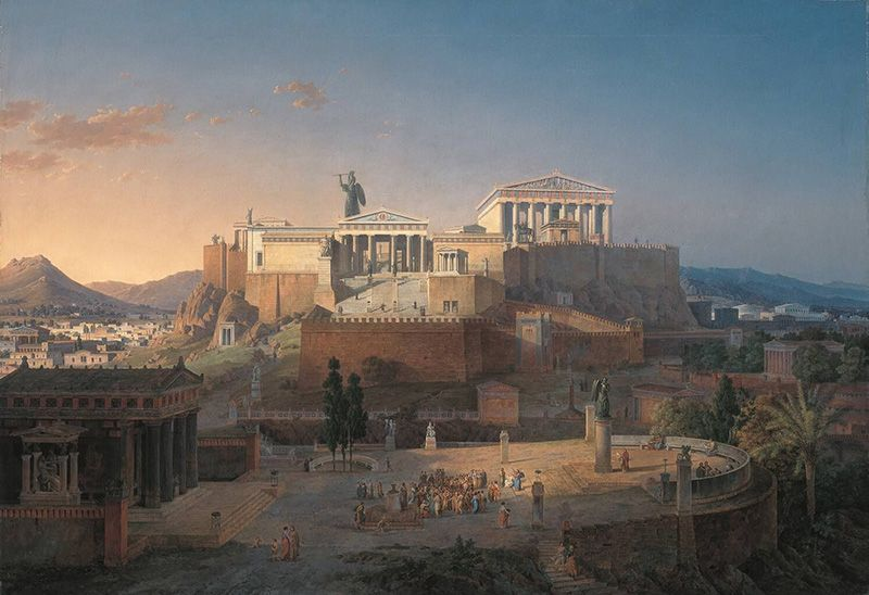 Het Parthenon op de Acropolis