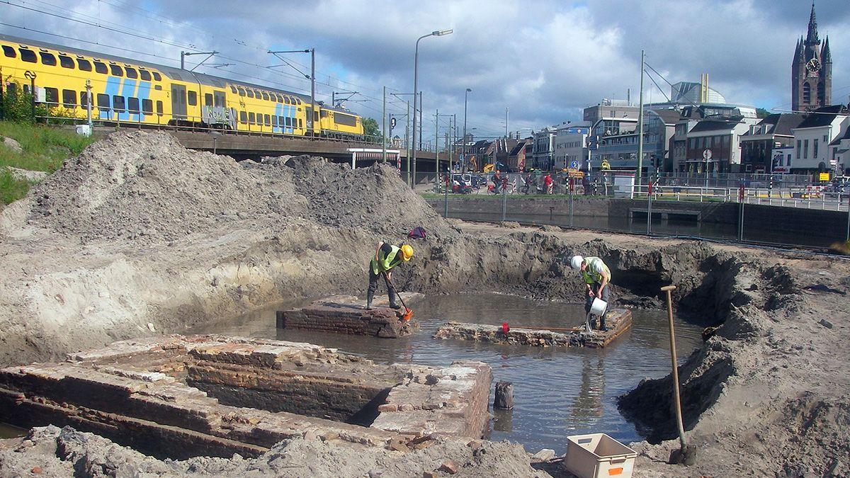 Retourtje verleden opgraving Delft