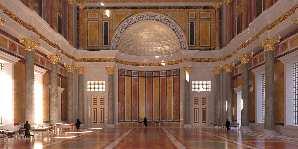 Keizer Domitianus reconstructie paleis