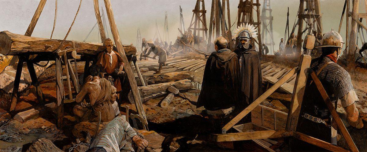 Romeinen langs de Rijn bouw weg