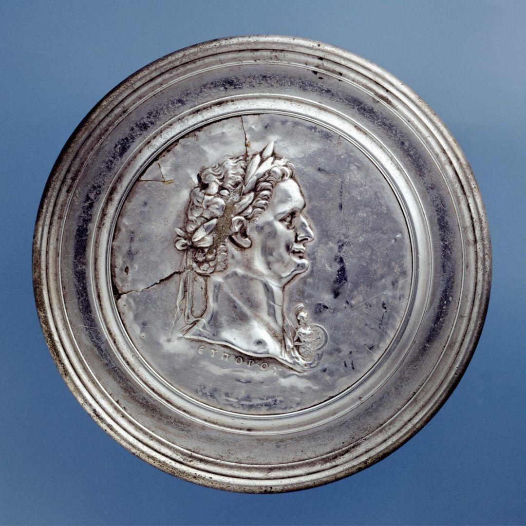 Keizer Domitianus zilveren spiegel