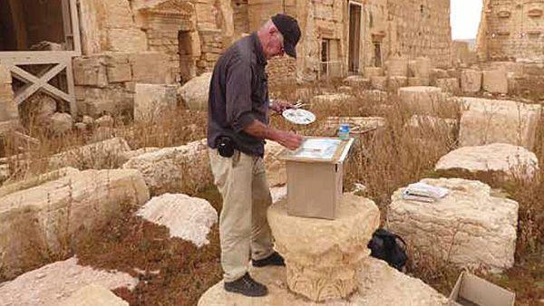 Tussen de ruïnes van Palmyra Theo de Feyter
