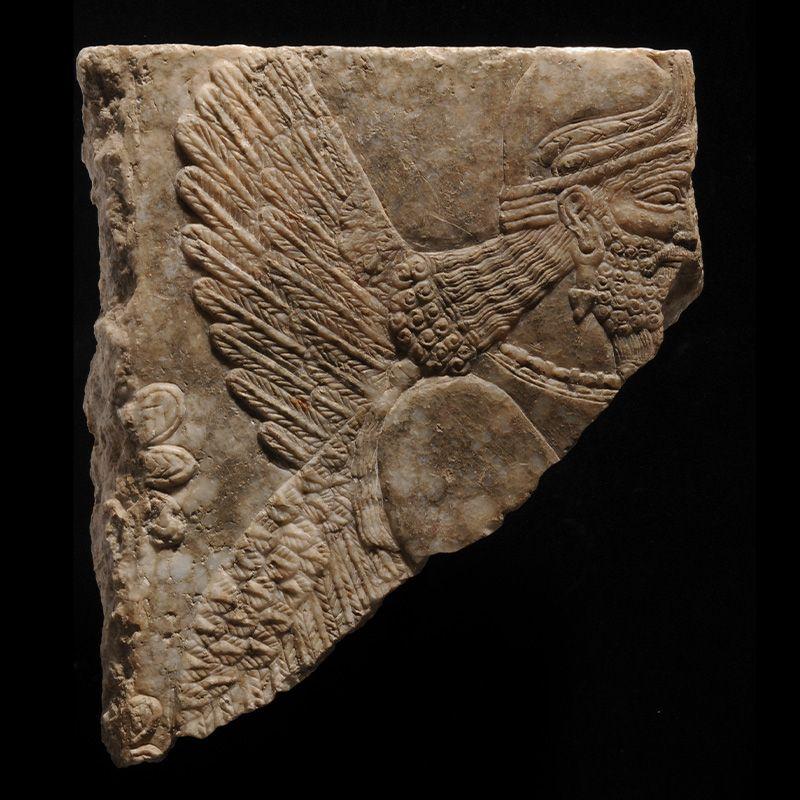 Assyrisch koningsreliëf monsters